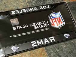 1 Los Angeles Rams Black Metal License Plate Frame - Nice Ra