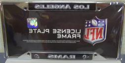 1 Los Angeles Rams License Plate Frame Chrome EZ View