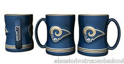1 Los Angeles Rams NFL 14 oz.Sculpted Relief Mug Coffee Cup