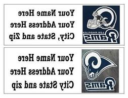 60 NFL LOS ANGELES RAMS RETURN ADDRESS LABELS MANY CHOICES F