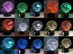 All Football Teams Collectible Decor Night Light Touch Lamp