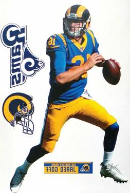 Jared Goff Los Angeles Rams Fathead Teammate Sticker Wall De