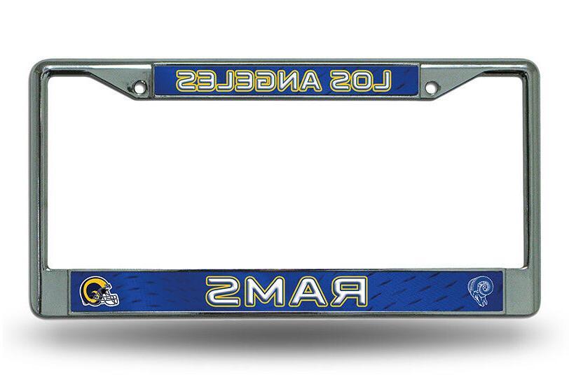 LA Los Angeles Rams RETRO Metal Chrome License Plate Frame A