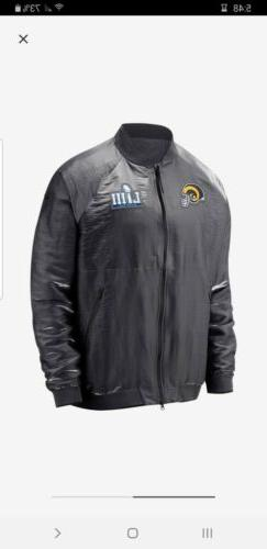 LA Los Angeles Rams Nike Super Bowl LIII Bomber Jacket Men's