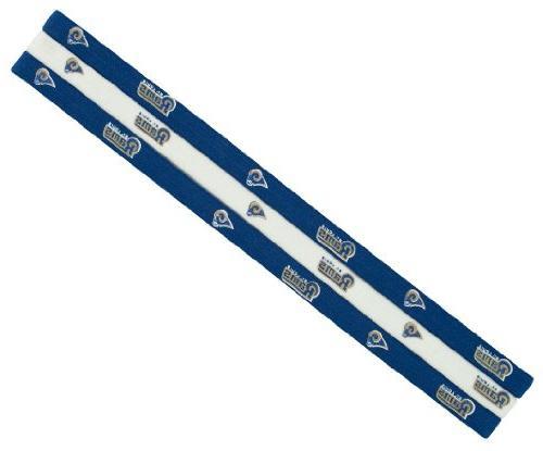 littlearth louis rams elastic headbands
