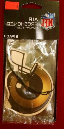 LOS ANGELES RAMS AIR FRESHENER  VANILLA OR NEW CAR SCENT