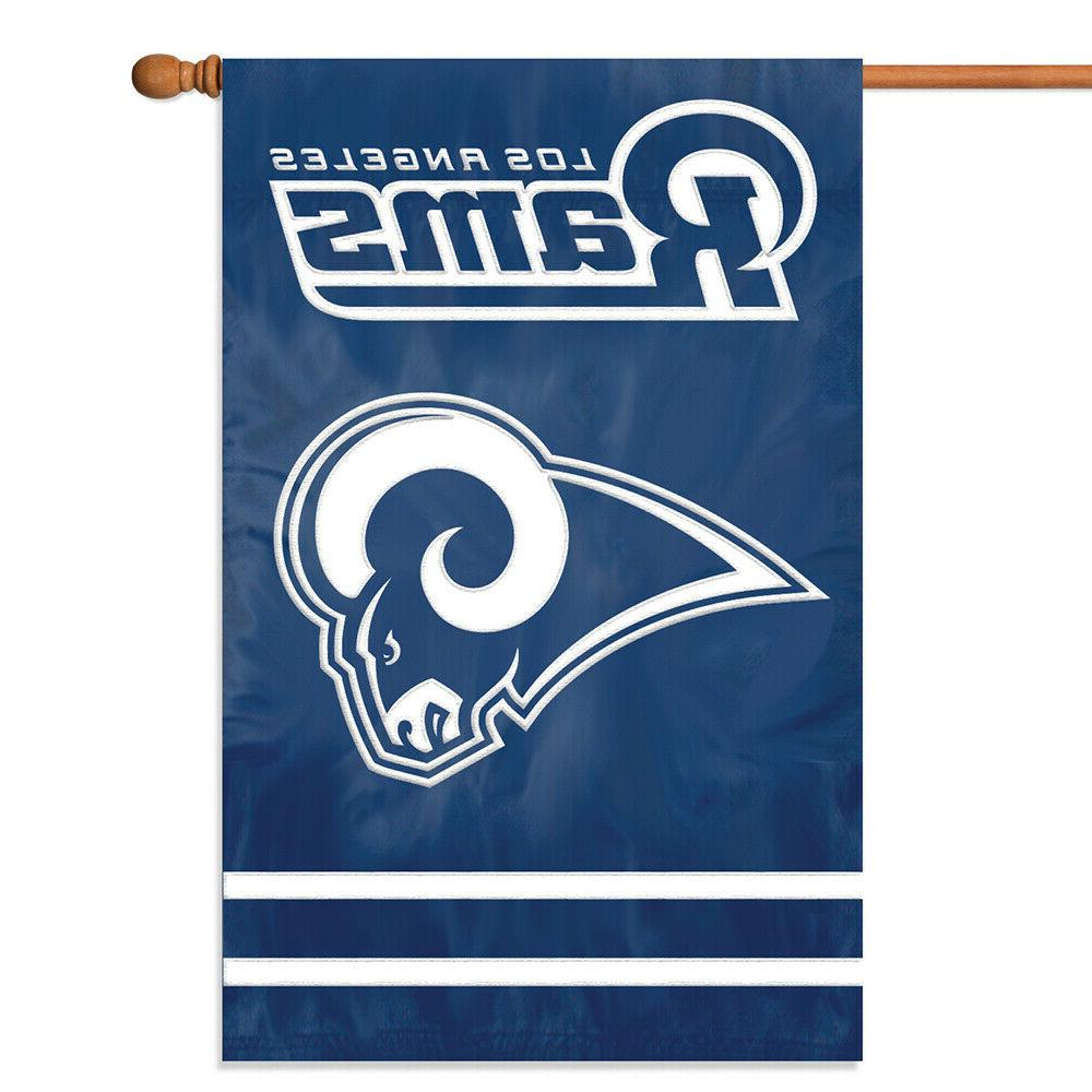 los angeles rams house flag applique embroidered