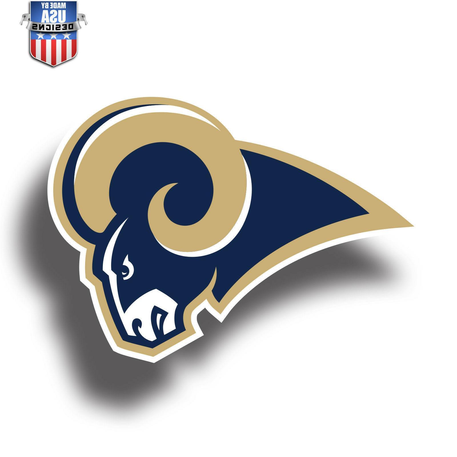los angeles rams nfl football color logo