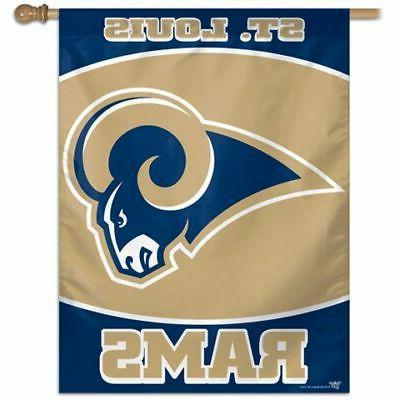 los angeles rams vertical outdoor house flag