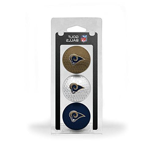 St. Louis Rams Official NFL 3 Ball Set by Team Golf 32505