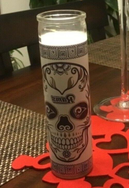 new superbowl bound la rams unscented skull