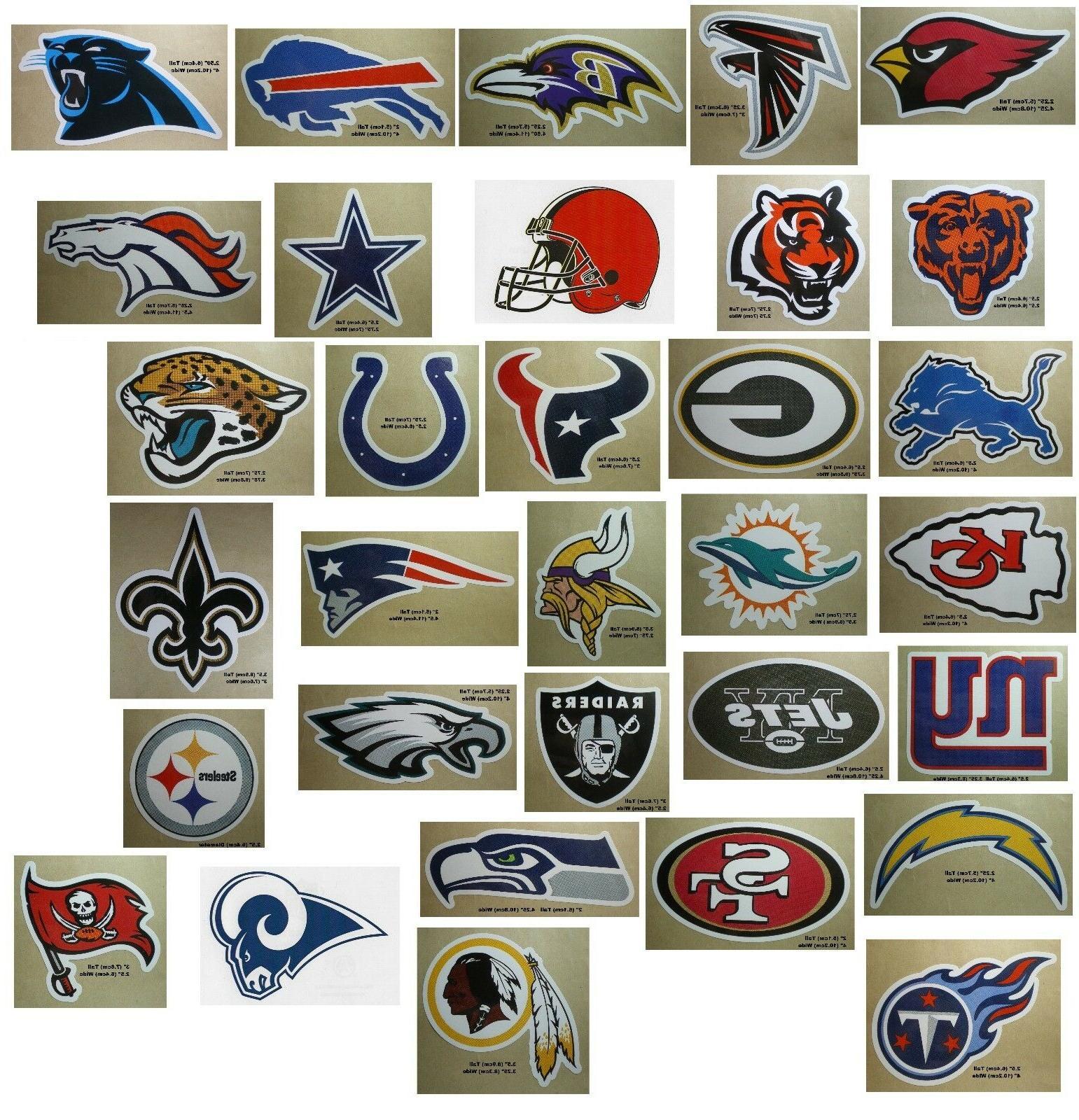 nfl football decal sticker team logo designs