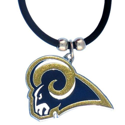 NFL Logo Pendant Rubber Cord - St. Louis Rams