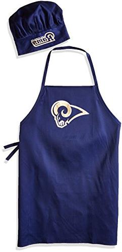 NFL Los Angeles Rams Men's Chef Hat & Apron Set, Multicolor,
