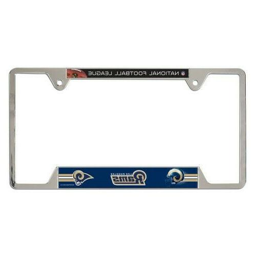 nfl los angeles rams license plate frame