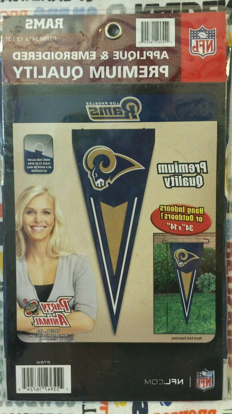 """NFL Los Angeles Pennant/Flag/Wall Hanging-Embroidery, 14"""""""