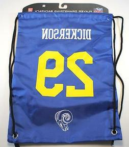 LA Los Angeles Rams Eric Dickerson Drawstring Backpack Bag T