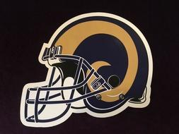 LARGE LOS ANGELES RAMS MAGNETIC FOOTBALL HELMET MAGNET for C