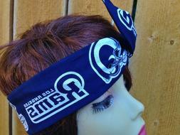 Los Angeles LA Rams  Wired Dolly Bow -Headband Headwrap Band