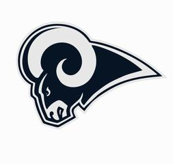 Los Angeles LA Rams NFL Football Color Logo Sports Decal Sti