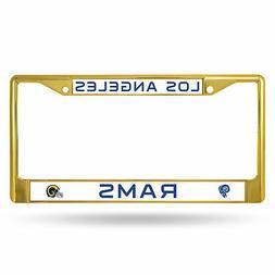 Los Angeles LA Rams NFL Gold Color Painted Chrome Metal Lice