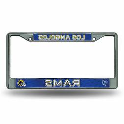Los Angeles LA Rams Retro Chrome Metal License Plate Frame