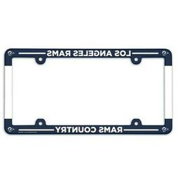 LOS ANGELES RAMS ~  NFL Plastic License Plate Frame Cover Ho