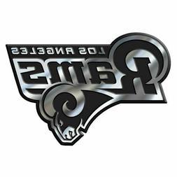 Los Angeles Rams 3D Emblem Raised Chrome Color Die Cut Auto