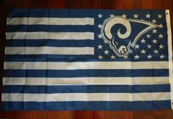Los Angeles Rams 3x5 American Flag. US seller. Free shipping