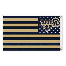 Los Angeles Rams 3x5 Foot American Banner Flag New