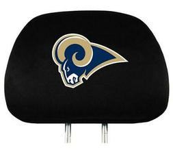 Los Angeles Rams Auto Headrest Covers 2 Pack  NFL Car Seat H
