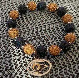Los Angeles Rams Beaded Bracelet