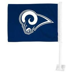 Los Angeles Rams Car Flag 12 x 15 Double Sided All Pro Desig