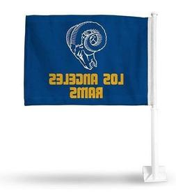 los angeles rams car flag pole double