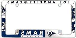 Los Angeles Rams EZ View All Over Chrome Frame Metal License