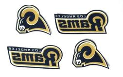Los Angeles Rams fabric iron on applique. 4pc. Patch crafts