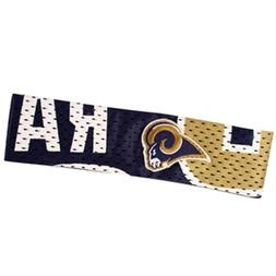 los angeles rams fanband jersey style elastic