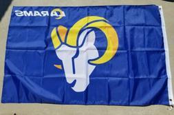 Los Angeles Rams flag 2020 3ft x 5ft, New LA Logo flag banne
