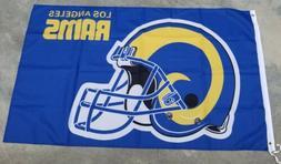 Los Angeles Rams flag Helmet 3ft x 5ft LA Rams flag, banner,