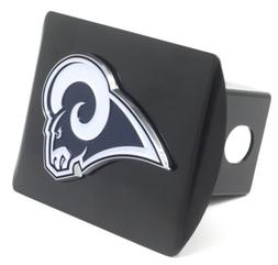 Los Angeles Rams  Heavy Duty Black Metal Hitch Cover with 3D