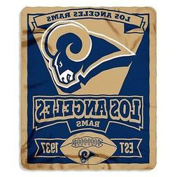 Los Angeles Rams Marquee Established Design 50x60 Fleece Thr