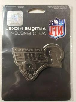 Los Angeles Rams Metal Auto Emblem Raised Antique Decal