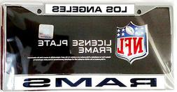 Los Angeles Rams New Design LASER FRAME Chrome Metal License