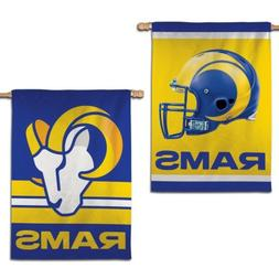 """LOS ANGELES RAMS NEW LOGO 28""""X40"""" DOUBLE SIDED BANNER FLAG N"""