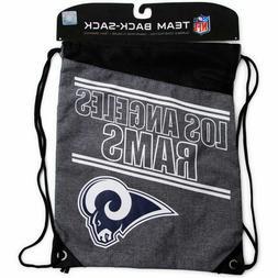 Los Angeles Rams NFL Backpack Drawstring Cinch Sack 17X13 FR