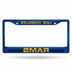 Los Angeles Rams NFL Blue Painted Metal Laser Cut License Pl