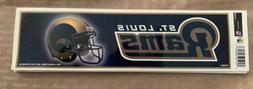 "LOS ANGELES ""RAMS"" NFL BUMPER STICKER 8 1/2 x 3""~Car Sticker"