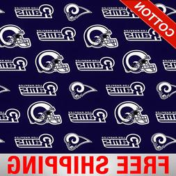 "Los Angeles Rams NFL Cotton Fabric - 60"" Wide - Style# 14760"