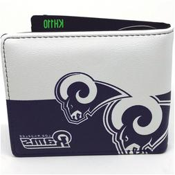 Los Angeles Rams NFL Men's Printed Logo Leather BiFold Walle
