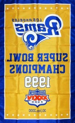 Los Angeles Rams NFL Super Bowl Championship Flag 3x5 ft Spo